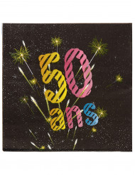 20 Serviettes en papier 50 ans feux d'artifice 33 x 33 cm