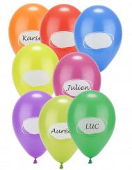 8 Ballons en latex à personnaliser 30 cm