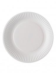 100 Petites assiettes en carton blanc 18 cm