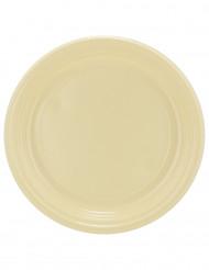 30 assiettes en plastique ivoire 22 cm