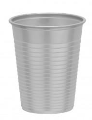 50 Gobelets en plastique gris argent 20 cl