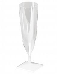10 Flûtes à champagne plastique cristal 13 cl