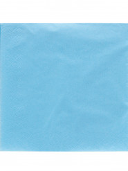 50 Serviettes en papier bleu ciel  38 x 38 cm