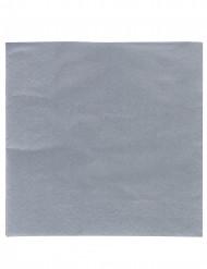 50 Serviettes grises 38 x 38 cm