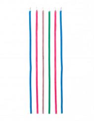 18 Bougies étincelantes longues colorées
