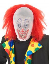 Cagoule clown avec cheveux adulte Halloween