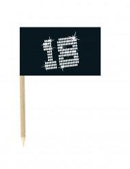 10 mini pics Drapeaux 18 ans VIP