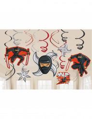 12 Décorations à suspendre Ninja
