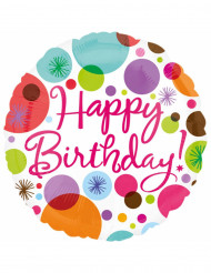 Ballon aluminium Happy Birthday 43 cm