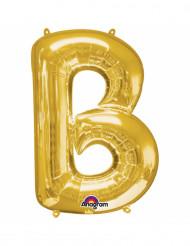 Ballon aluminium lettre B doré 33 cm