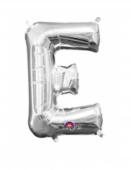 Ballon aluminium Lettre E argent 36 cm
