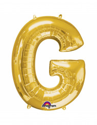 Ballon aluminium Lettre G doré 33 cm