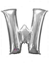 Ballon aluminium Lettre W argenté 33 cm