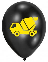 6 Ballons en latex Engins de Chantier