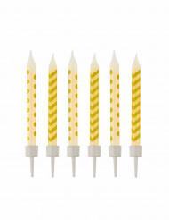 10 Bougies d'anniversaire jaunes