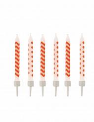 10 Bougies d'anniversaire orange