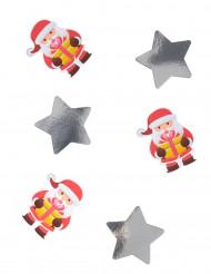 20 Confettis géants Père Noël 11 cm