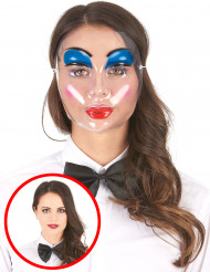 Masque transparent maquillage femme