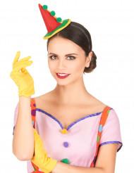 Serre-tête mini chapeau clown adulte