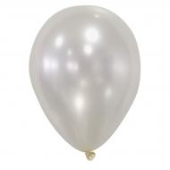 50 ballons ivoires métallisés 73 cm