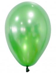 50 Ballons verts métallisés 30 cm