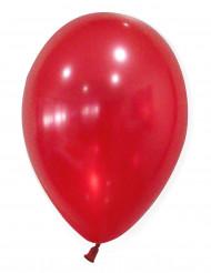 50 Ballons rouges métallisés