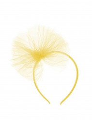Serre-tête noeud en tulle jaune fille