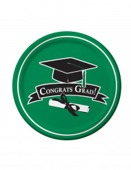 18 Assiettes vertes Congrats Grad