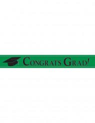 Bannière métallique Congrats Grad vert