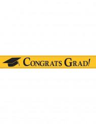 Bannière métallique Congrats Grad jaune