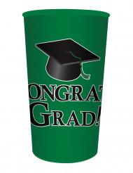 Gobelet en plastique vert Congrats Grad