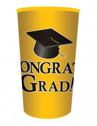 Gobelet en plastique Congrats Grad jaune 65 CL