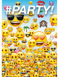 8 Cartes d'invitation Emoji™