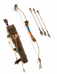 Arc avec fléches indien luxe 90 cm