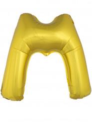 Ballon aluminium géant lettre M doré 1m