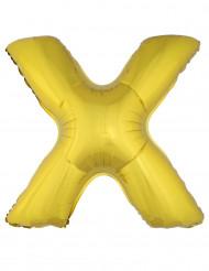Ballon aluminium géant lettre X doré 1m