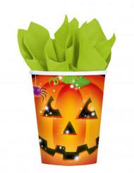 8 gobelets citrouille Halloween 266 ml