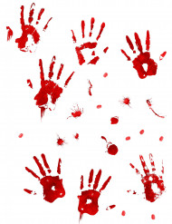 Autocollants muraux sanglants Halloween