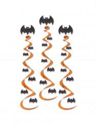 3 Suspensions spirales chauve-souris 76 cm