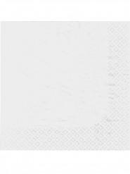 100 Serviettes en papier blanches 38 x 38 cm