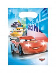 6 Sacs cadeaux en plastique Cars Ice™ 16.5 x 23 cm