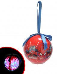 Boule lumineuse Spiderman™ 7,5 cm Noël