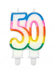 Bougie d'anniversaire chiffre 50