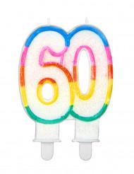 Bougie d'anniversaire chiffre 60