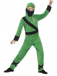 Déguisement ninja vert garçon