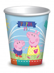 8 Gobelets en carton Peppa Pig™ 260 ml