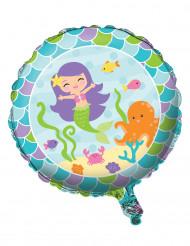 Ballon aluminium Sirène 46 cm