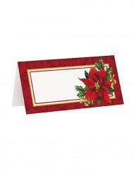 16 Marque-places Fleur de Noël 10 x 5 cm