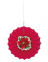Suspension rosace Fleur de Noël 30 cm