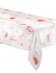 Nappe blanche ensanglantée en tissu